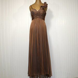 MAY QUEEN COUTURE Bronze Homecoming Prom Dress